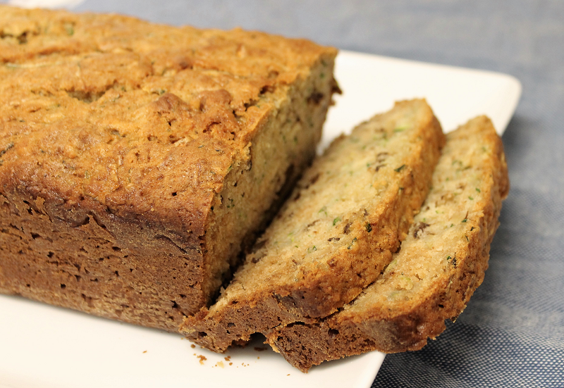 Zucchini Bread with Lemon Cream Cheese Frosting