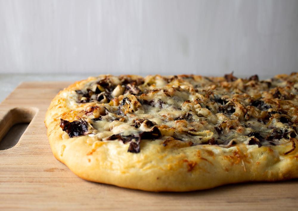 Baked radicchio flatbread