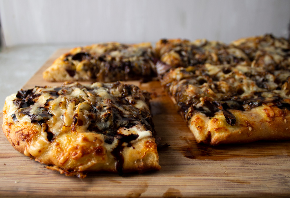 Radicchio and Caramelized Onion Flatbread