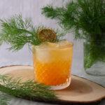 Mandarin, fennel, ginger cocktail