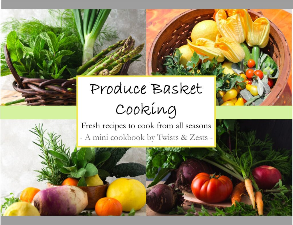 Cover of e-cookbook: Produce Basket Cooking