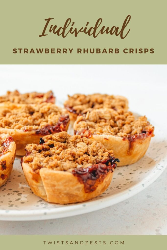 Pin for Individual strawberry rhubarb crisps