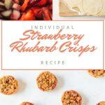 Strawberry rhubarb crisps pin image