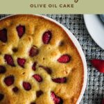 Strawberry olive oil cake pin