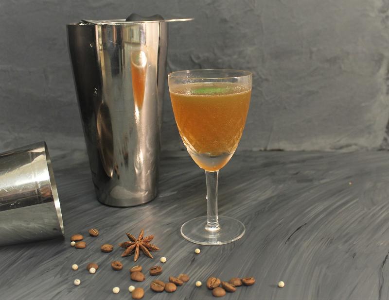 Citrine coffee cocktail