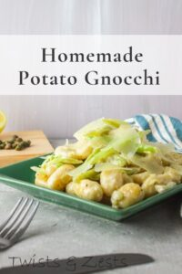 Homemade gnocchi with fennel cream Sauce