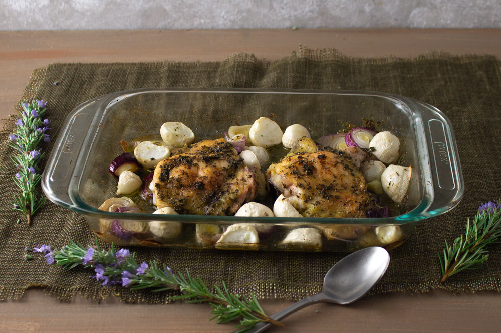 Spring Turnips with Herbed Chicken