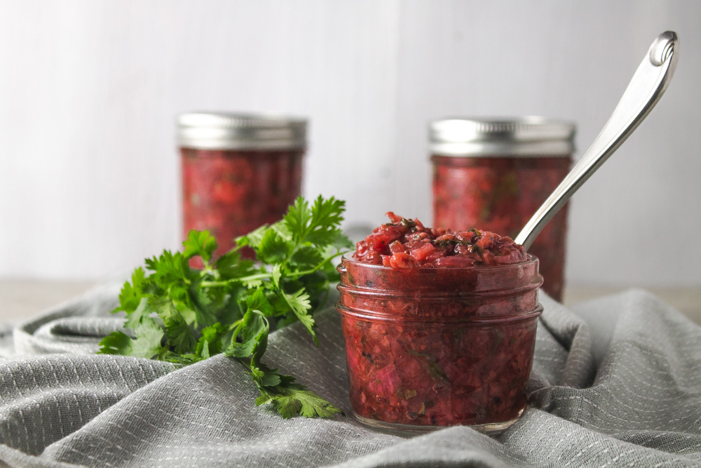 Strawberry Cilantro Chutney