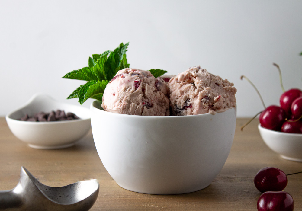 Cherry Mascarpone Ice Cream