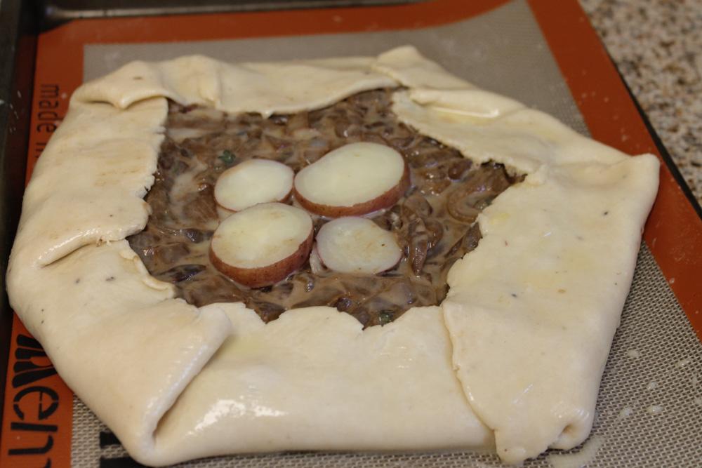 5 sided onion potato onion tart ready to bake