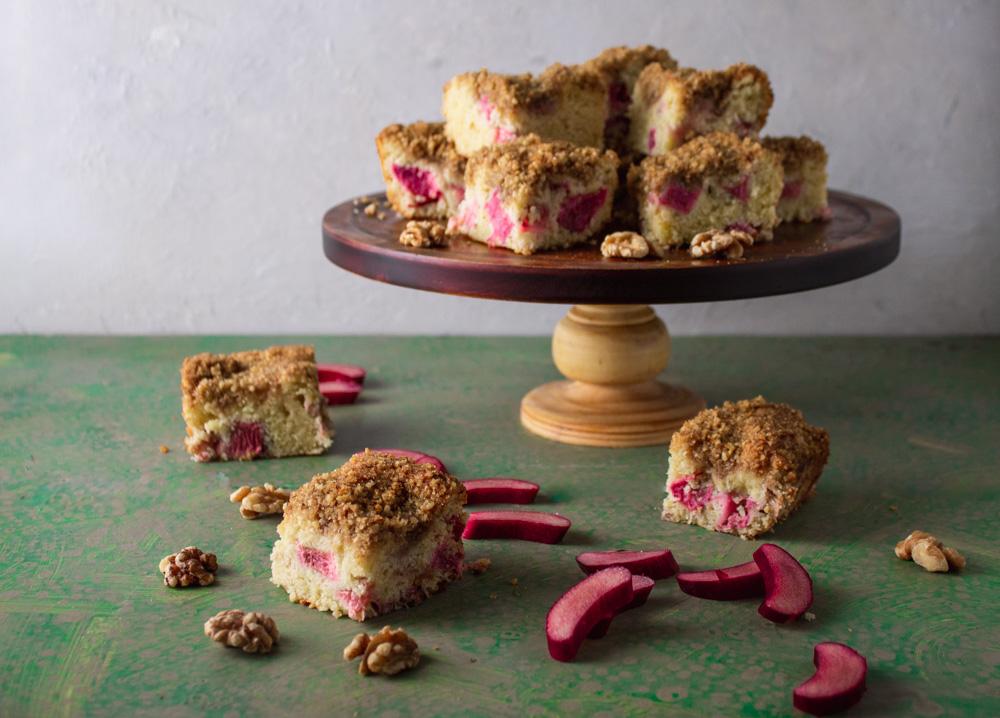 Rhubarb Cream Cake
