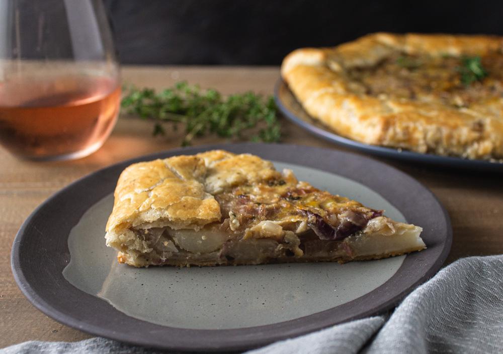 Caramelized Onion and Potato Tart