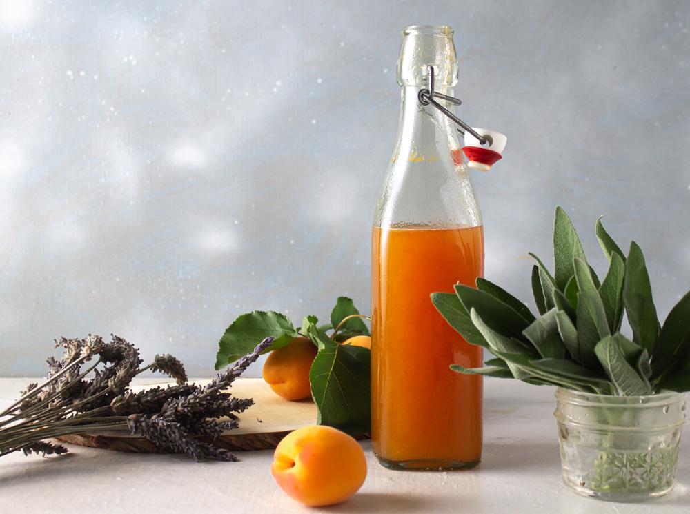 Apricot Lavender Sage Shrub