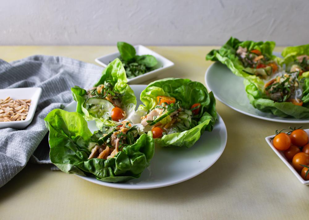 Asiatic Chicken Lettuce Wraps