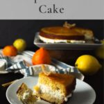 Citrus cake layered with whipped cream