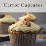 Carrot cupcakes with text