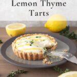 lemon thyme tart on plate