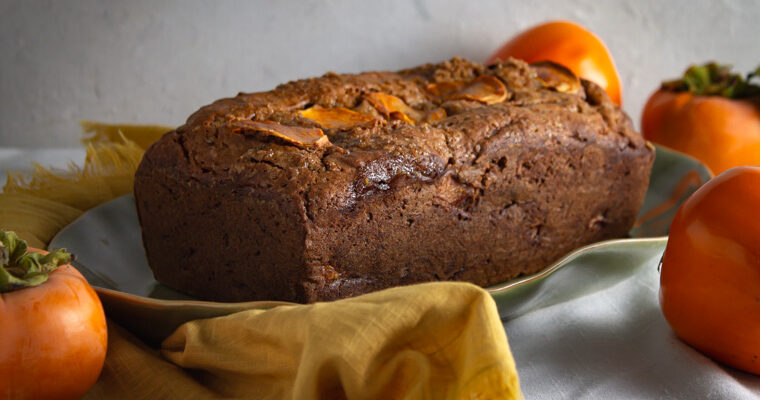 Loaf of spiced persimmon bread