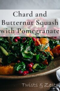 CHard and butternut squash with pomegranate pin