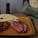 mediterranean marinated flank steak meal