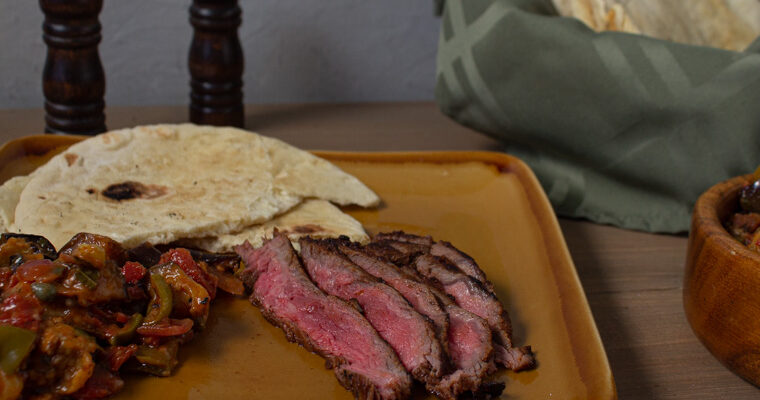 mediterranean marinated flank steak meal