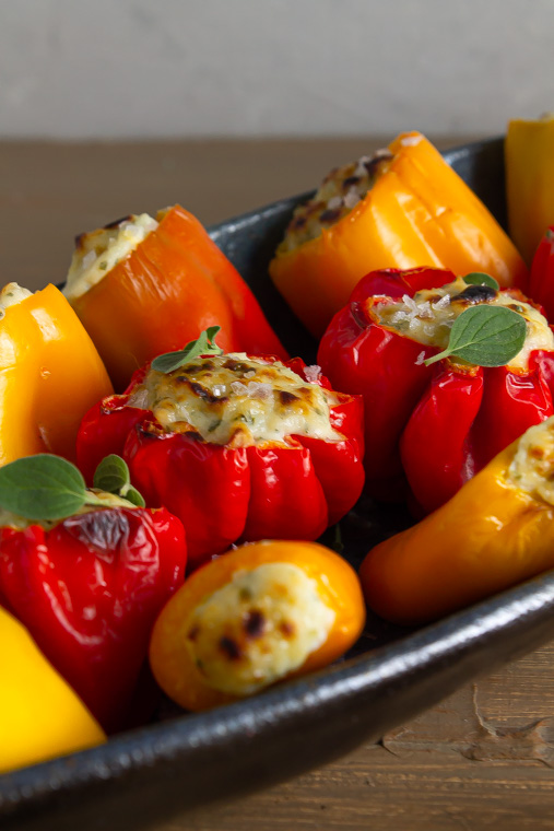 Ricotta stuffed peppers
