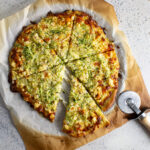 Corn and zucchini pizza