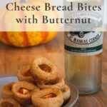 Tapioca cheese bread with butternut pair with wine pin