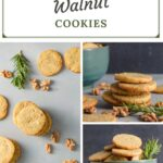 Pin for gorgonzola walnut shortbread